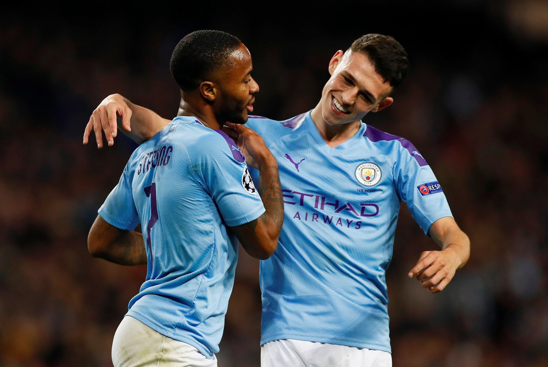 The teenager set up Raheem Sterling to score his first and Manchester City's third on the night