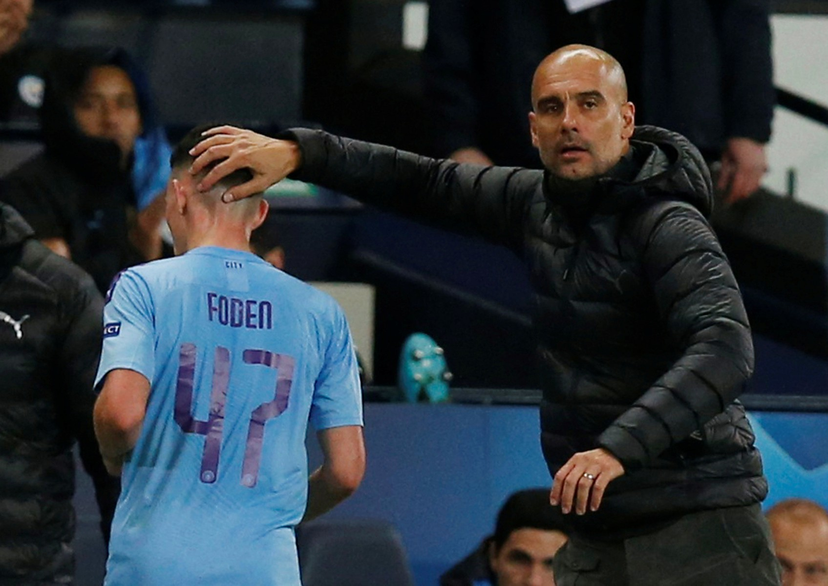 Pep Guardiola refused to criticise his midfield star, who was making just his second start of the season