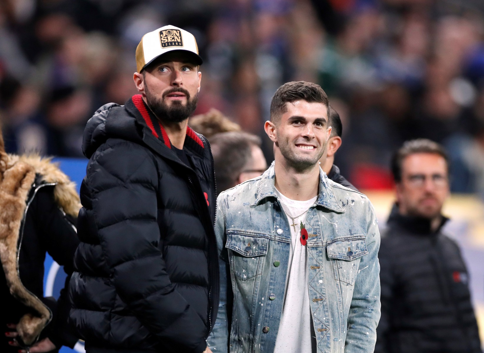 Chelsea pair Olivier Giroud and Christian Pulisic celebrated the win over Burnley by heading to the NFL