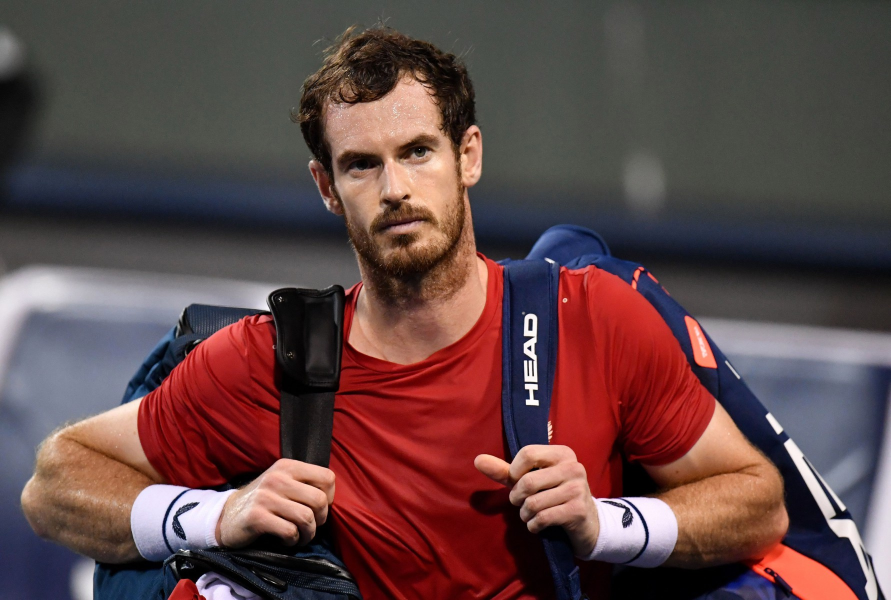Murray finally fell 7-6 2-6 7-6 after more than three hours of battling on court and was left