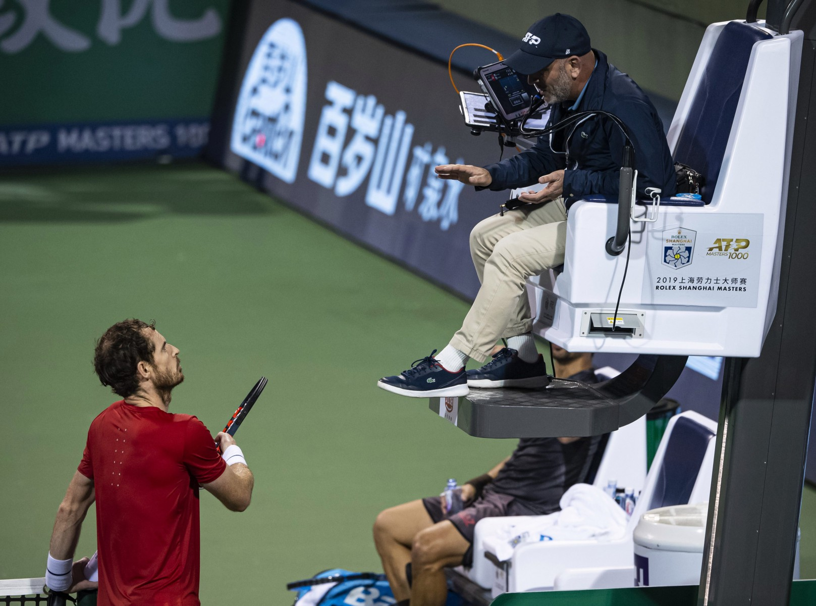 The British star was furious after Fognini shouted during a point at a tense moment of the match