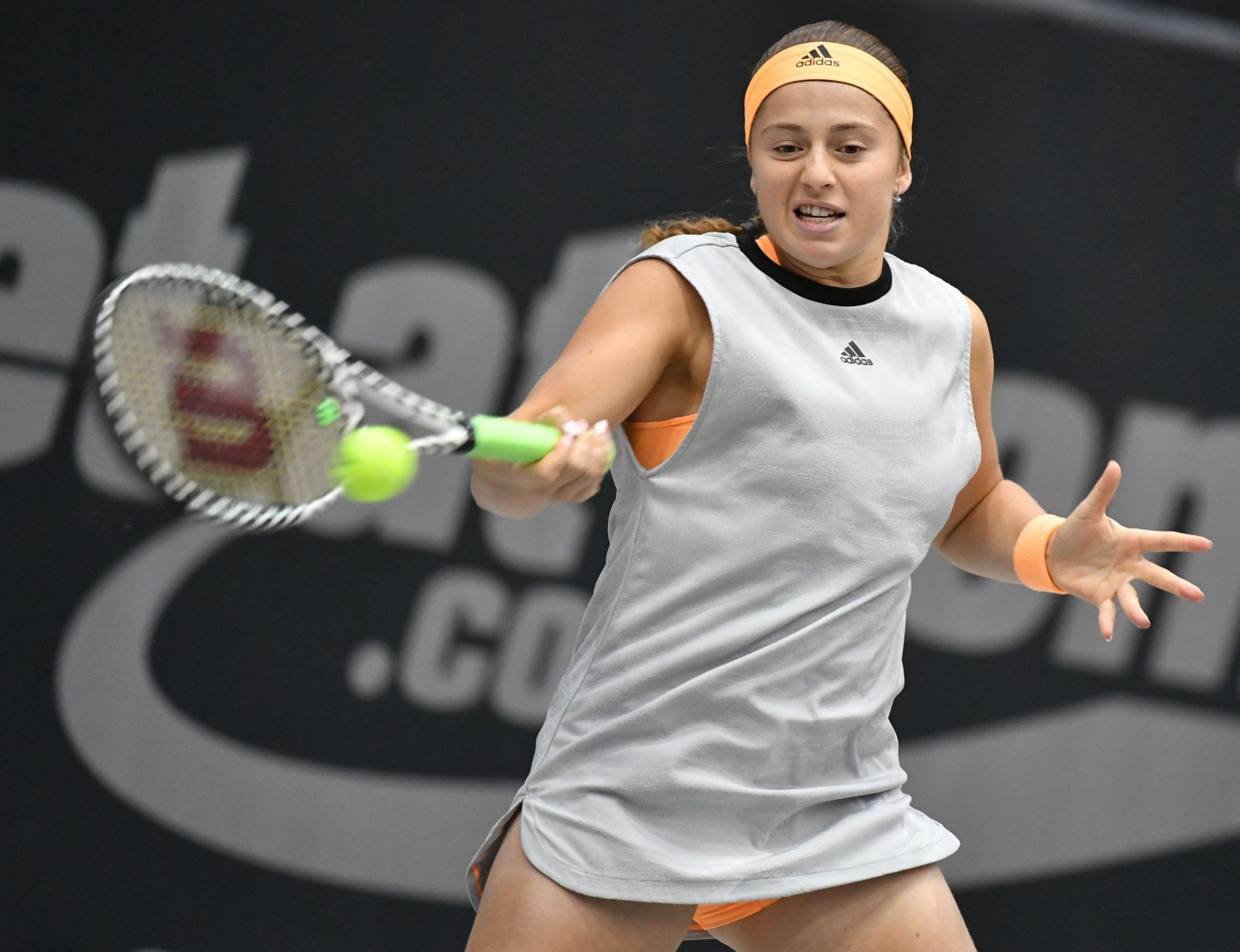 The Latvian battled back in the second set but fell 5-0 down in the third after and lost her temper over a line call