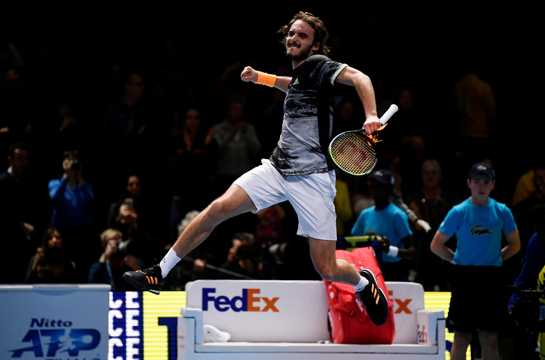 There was no love lost between the pair as Tsitsipas came through 7-6 6-4 at the O2 Arena