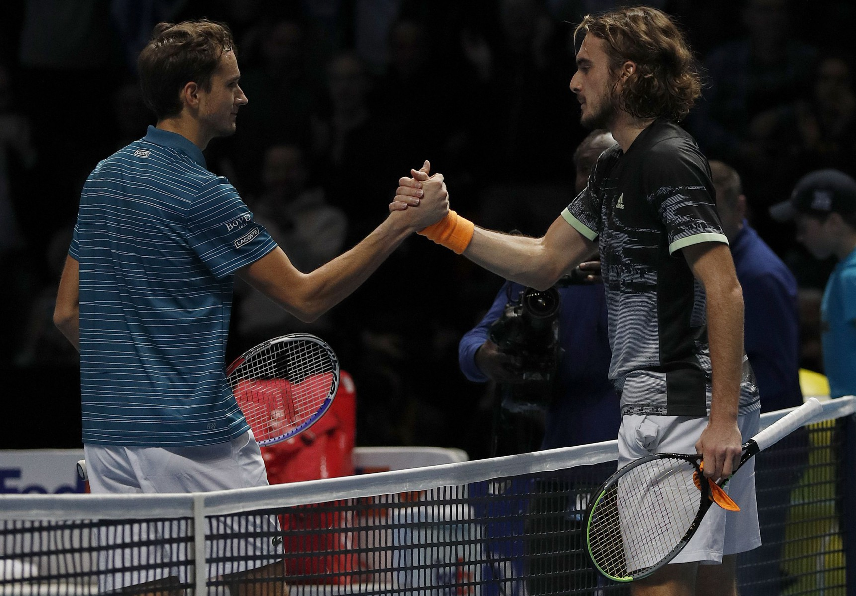 Both players were making their debuts at the season-ending ATP Finals in London