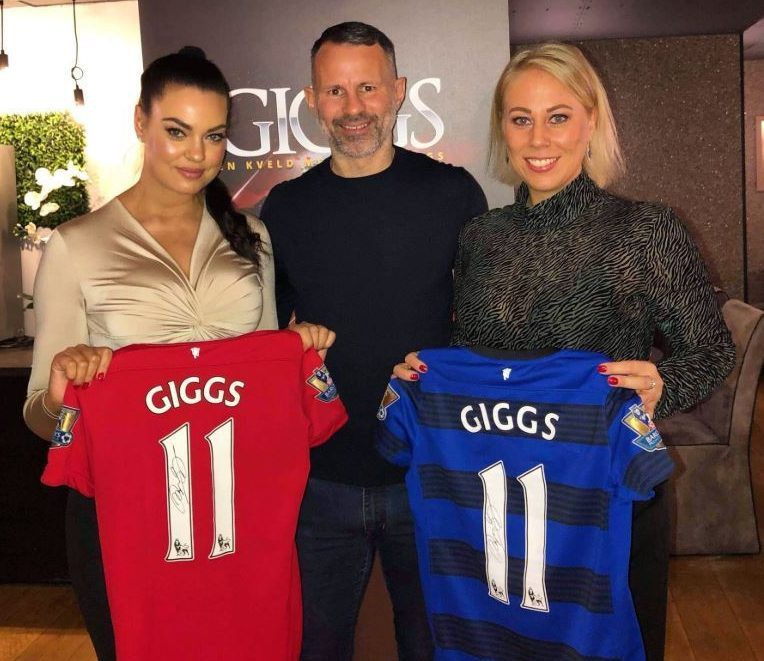 Olsen shared a snap on Instagram meeting Man Utd hero Ryan Giggs