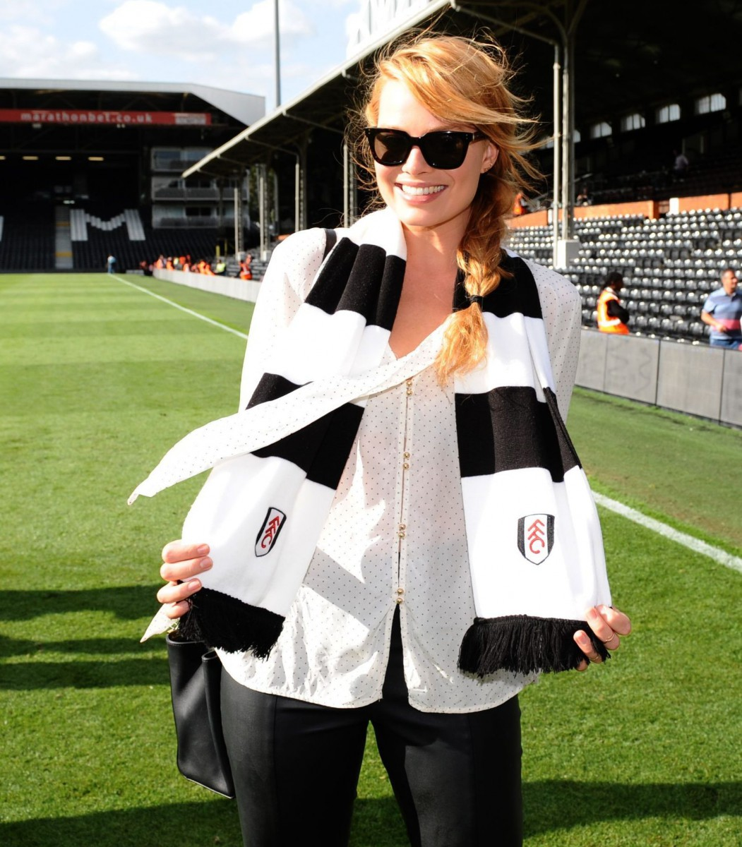 Robbie is a Fulham fan and has been paraded at Craven Cottage