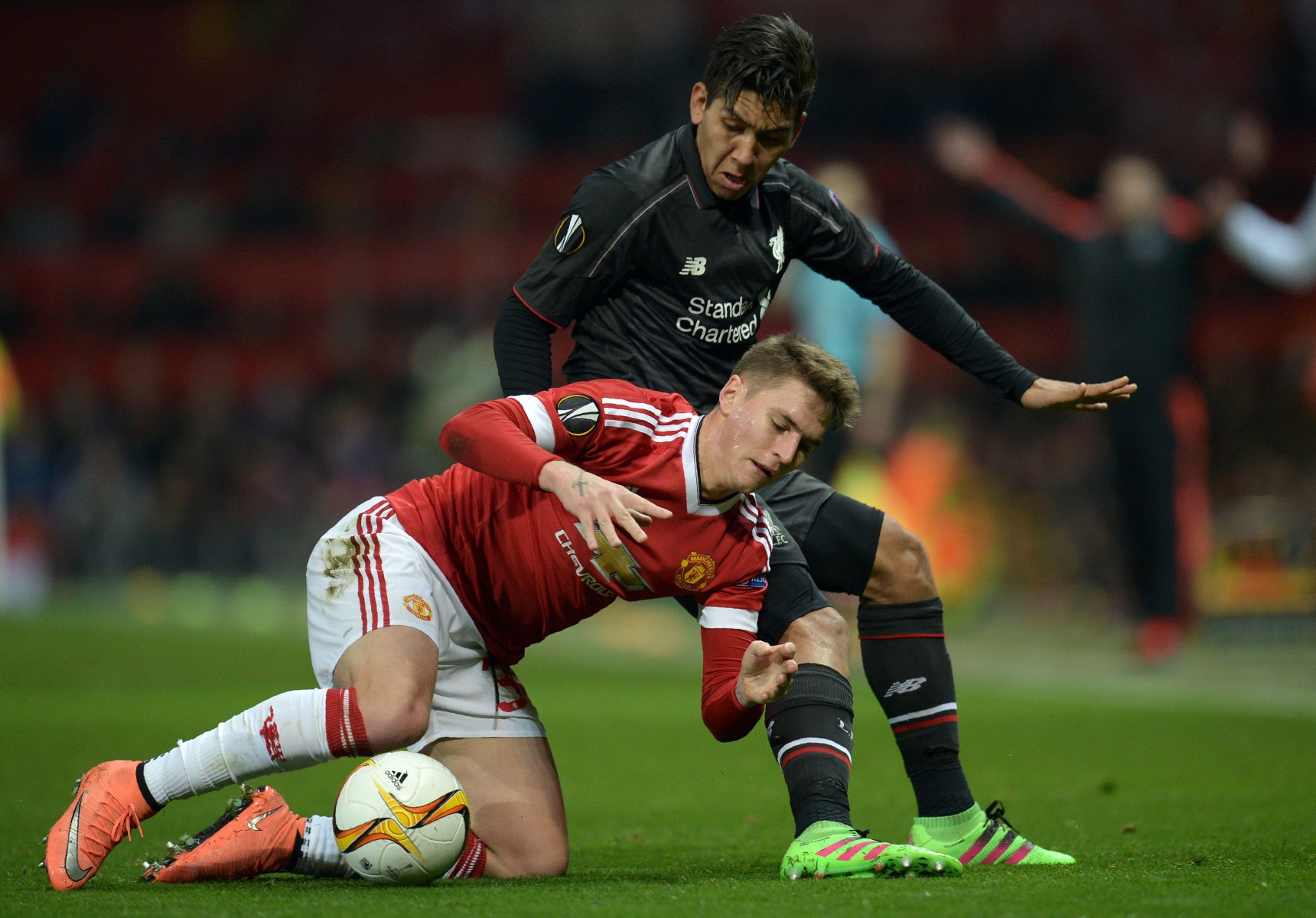 Varela's final game for the Red Devils was a 1-1 draw with Liverpool in the Europa League as Philippe Coutinho scored