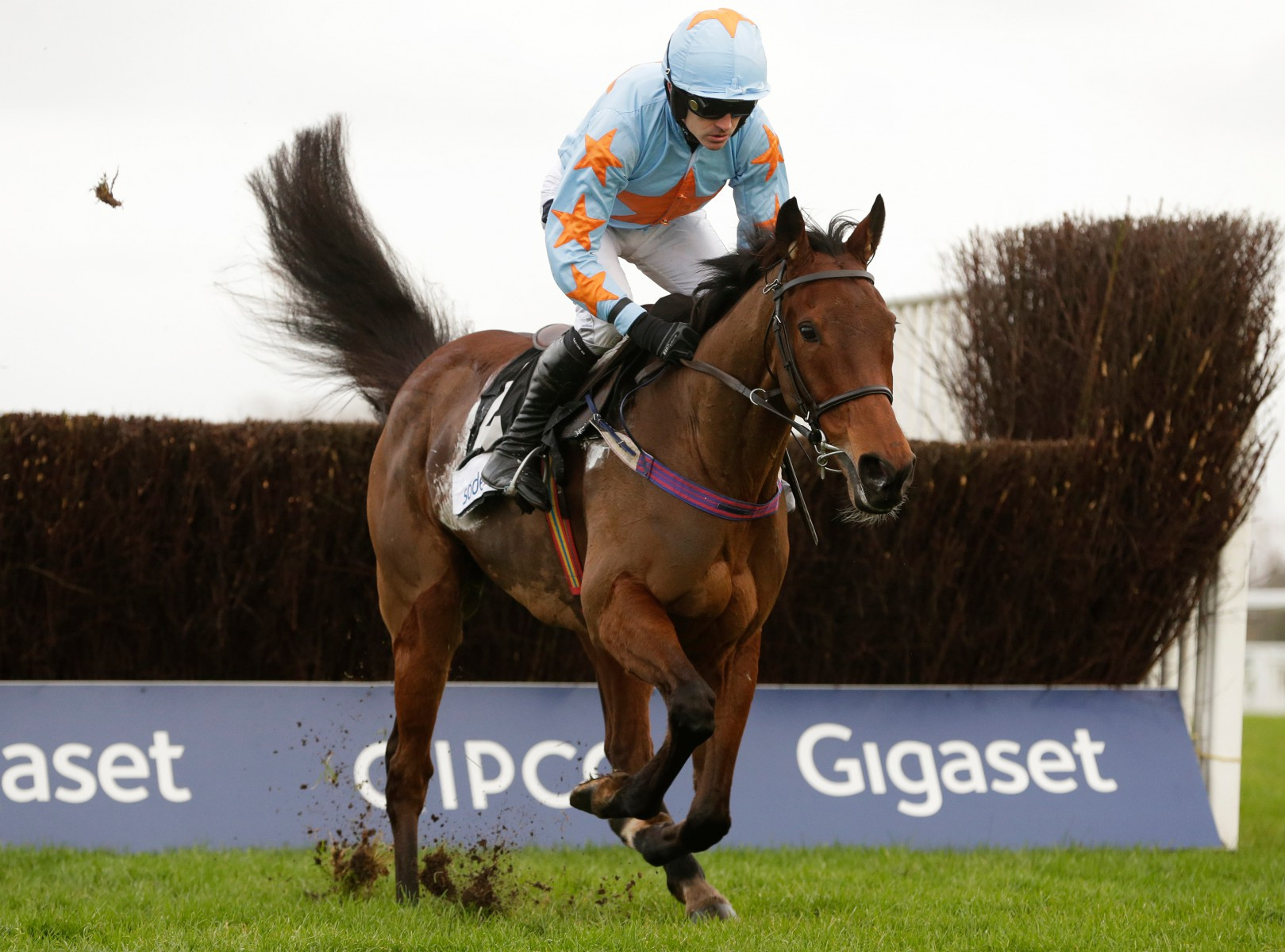 Un De Sceaux winning the first of his three Clarence House Chases in 2016