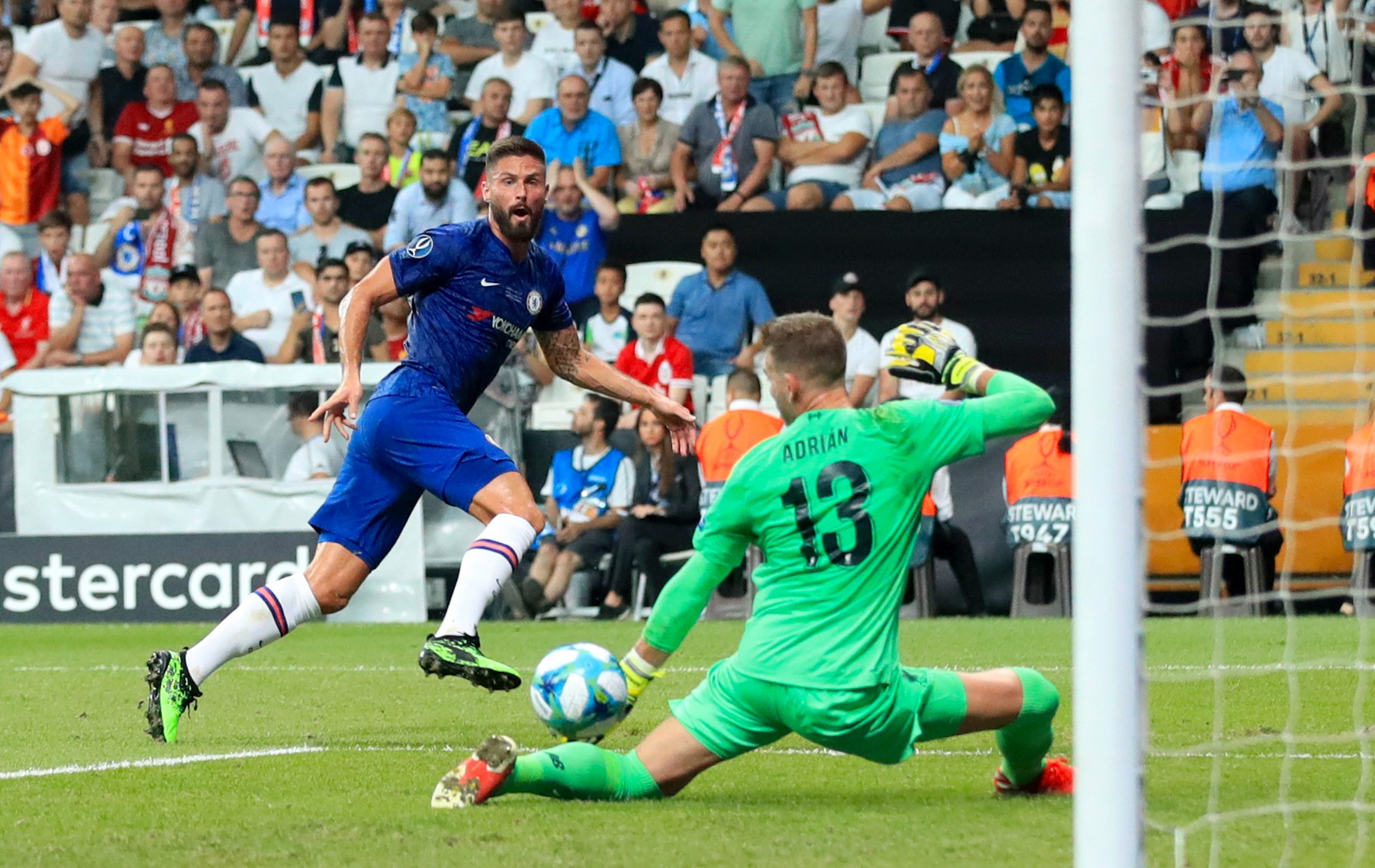 The Frenchman's only Chelsea goal so far this season came in the Super Cup against Liverpool