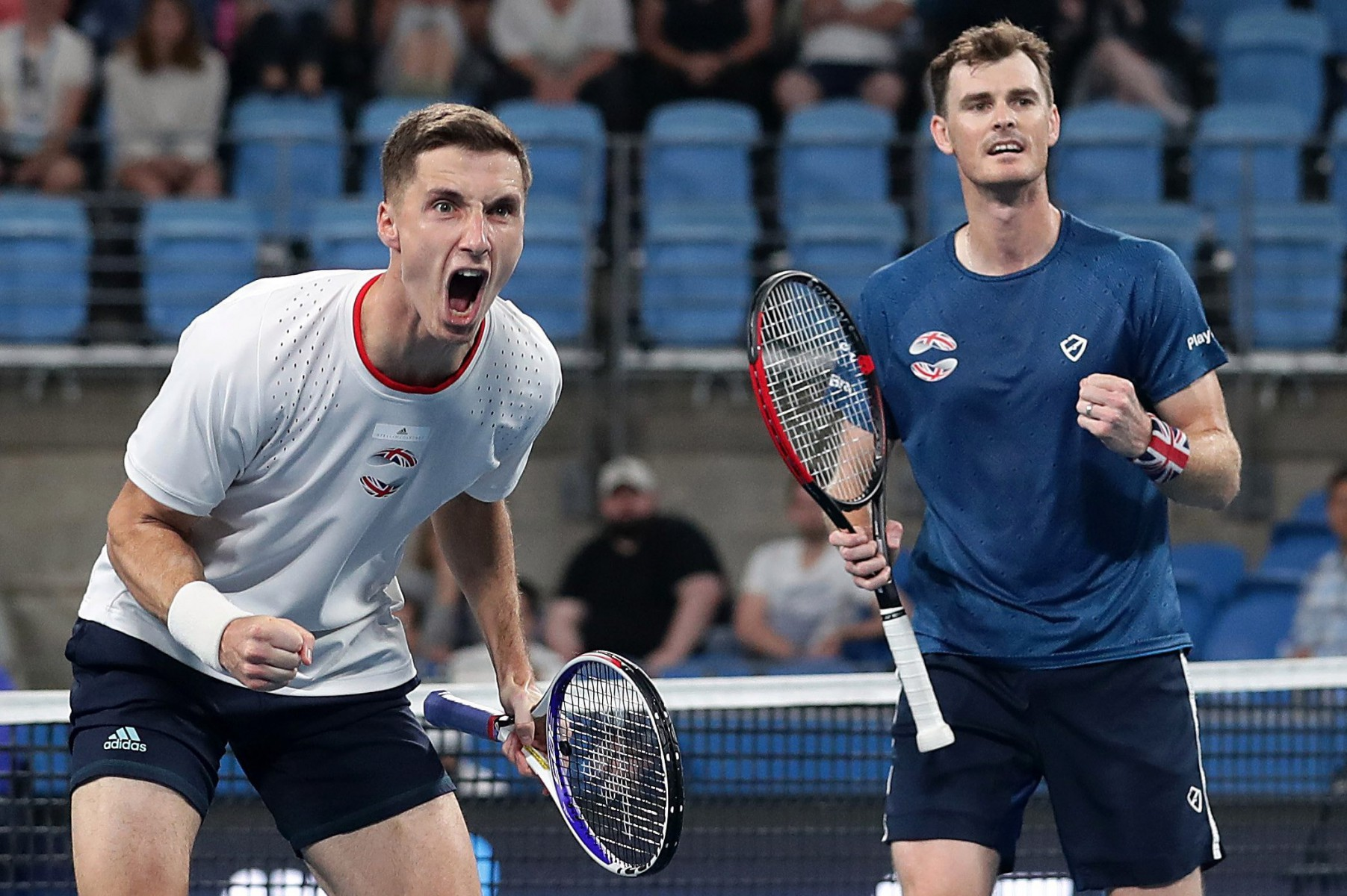 Joe Salisbury and Jamie Murray won their deciding doubles rubber to secure a 2-1 victory in Group C