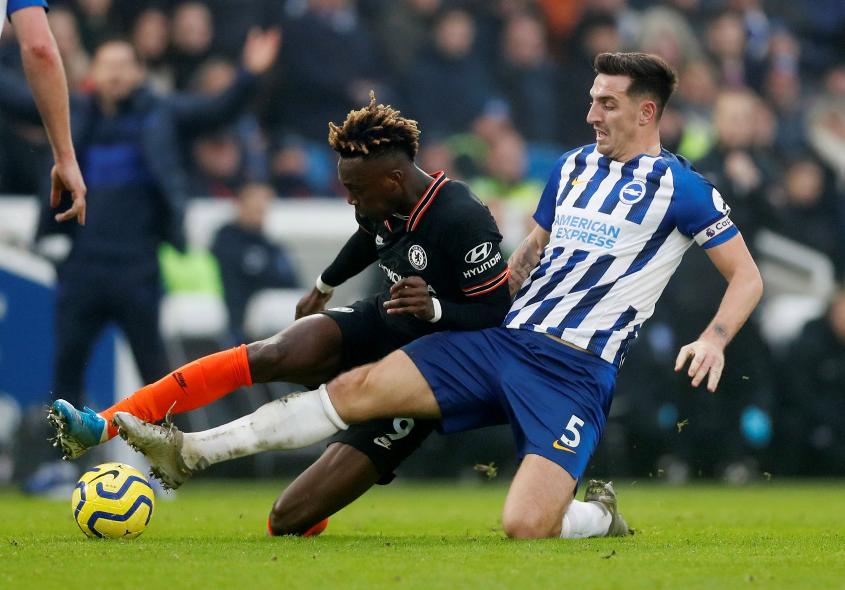 Lewis Dunk is one of a number of centre-backs Manchester City are tracking