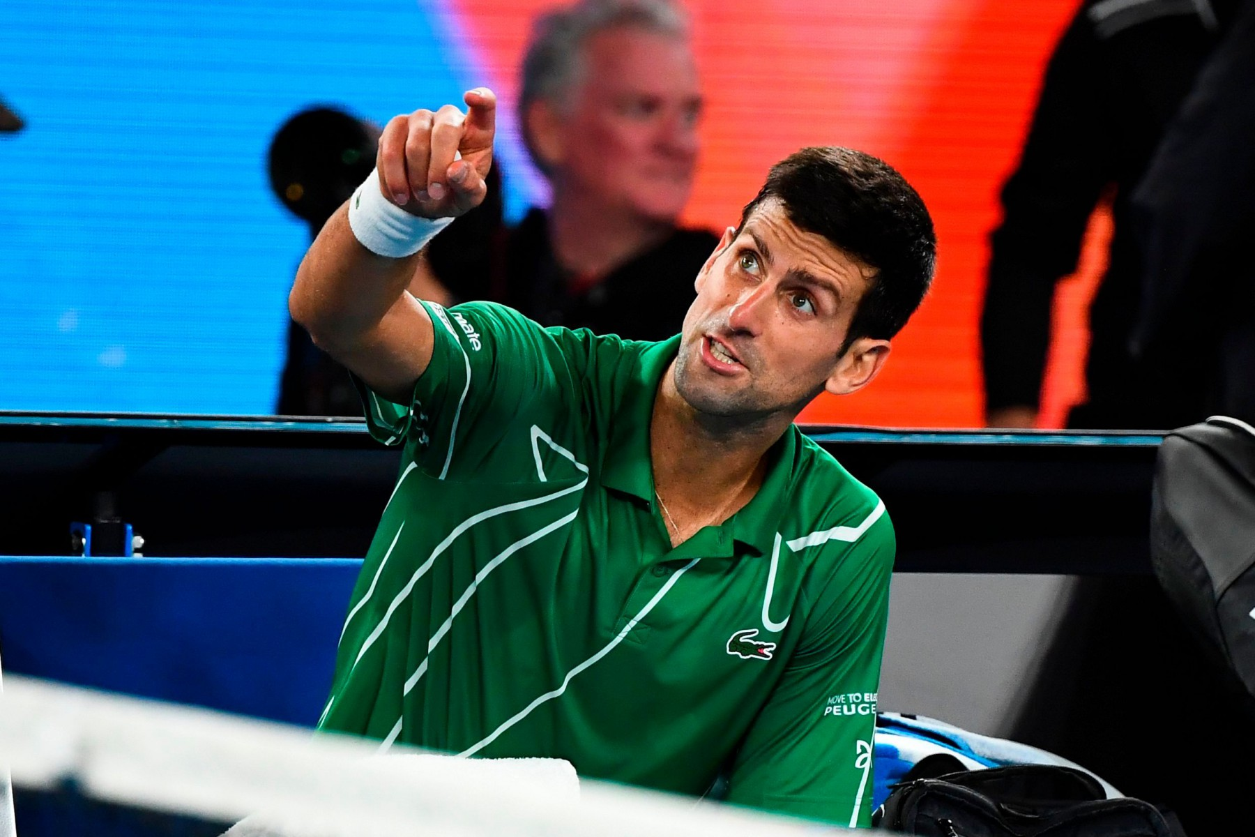 The Serb blasted the chair umpire and appeared to tell the crowd to 'shut the f*** up'
