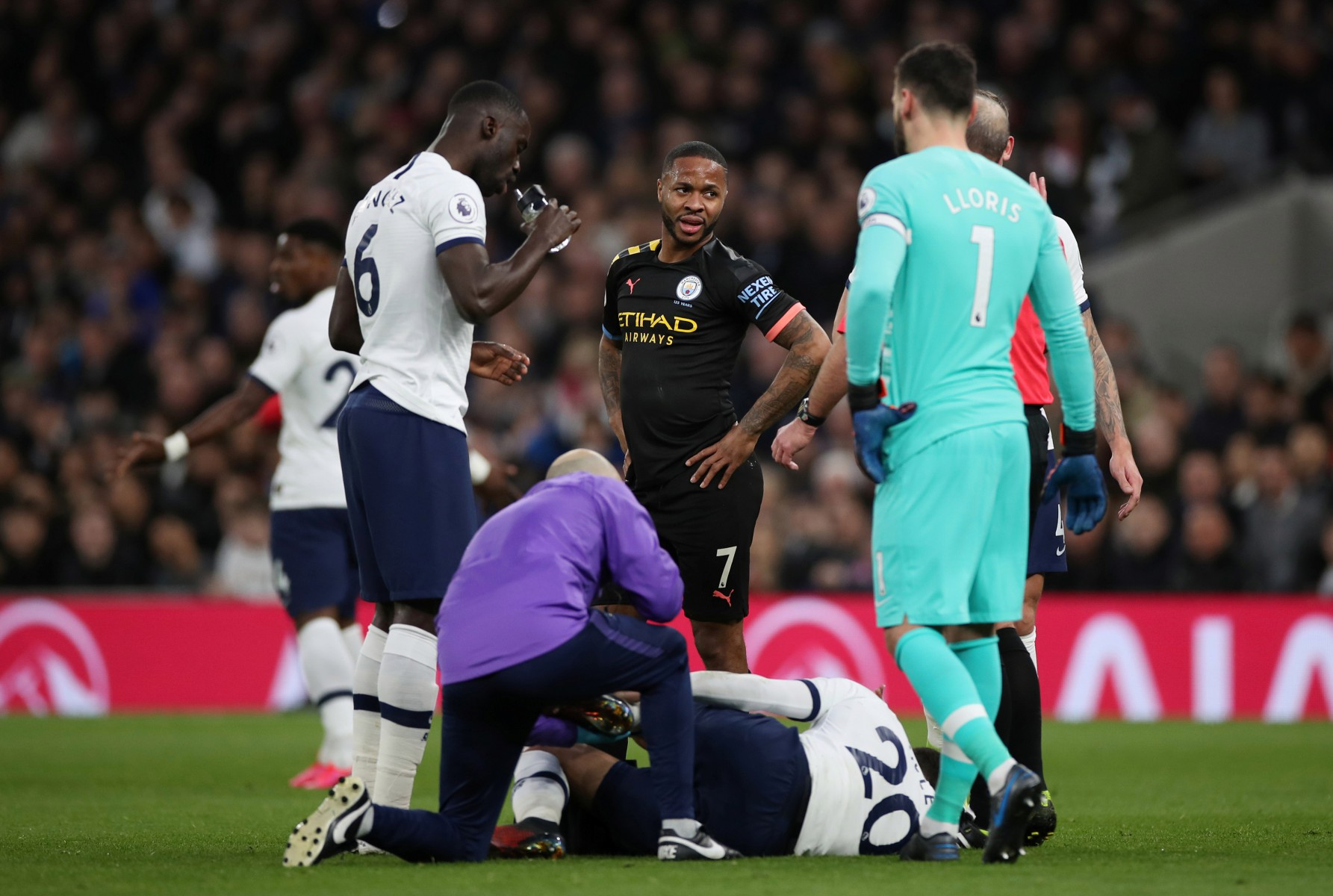 Dele received treatment and came off during the second half of Spurs' win