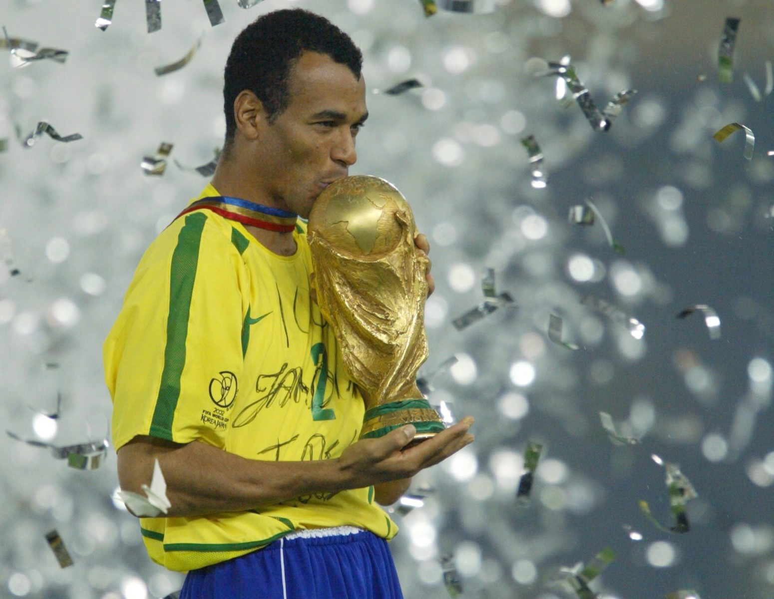 Cafu won the World Cup twice - including captaining the side to glory in 2002