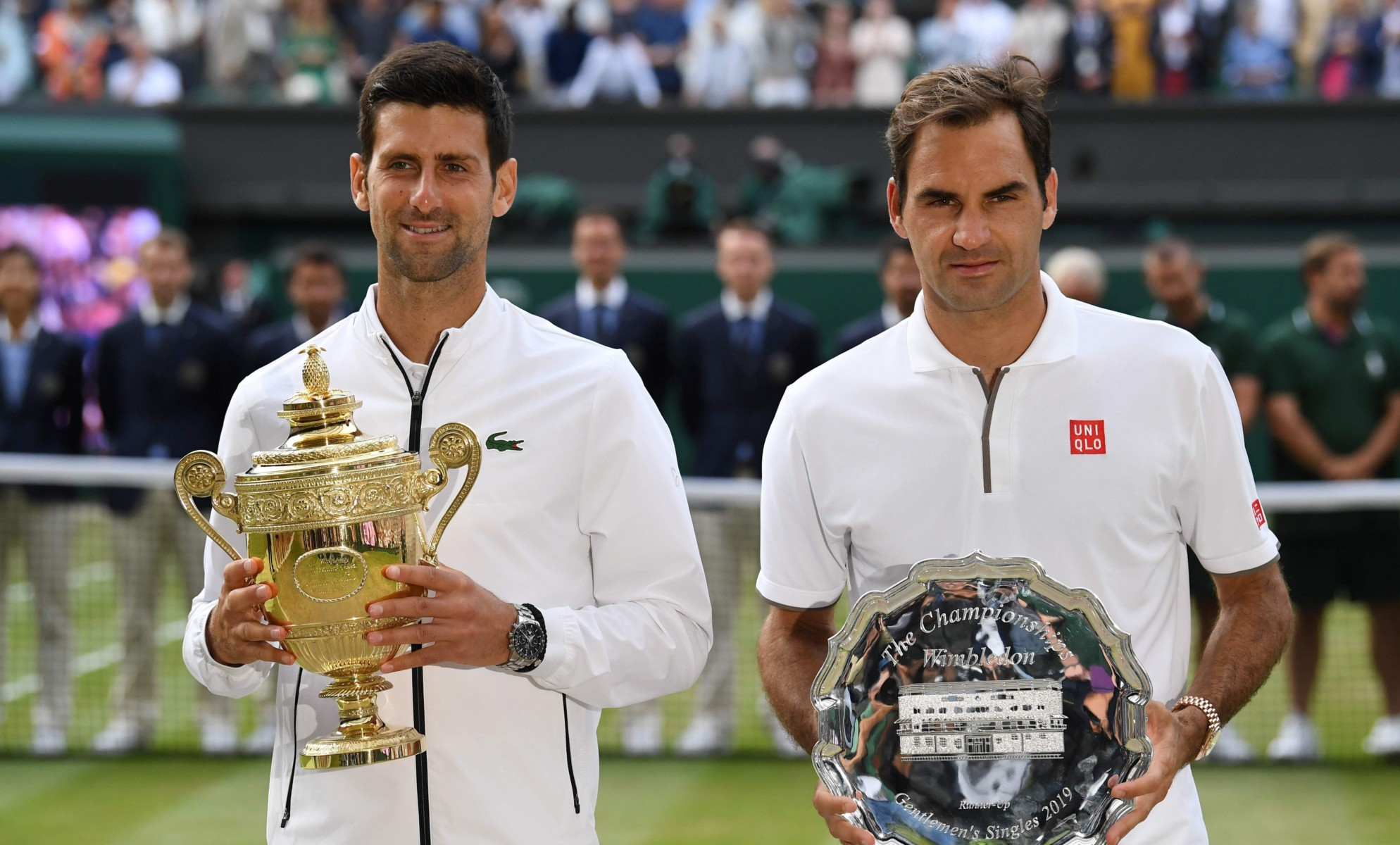 Novak Djokovid beat Roger Federer in a epic 2019 men's final