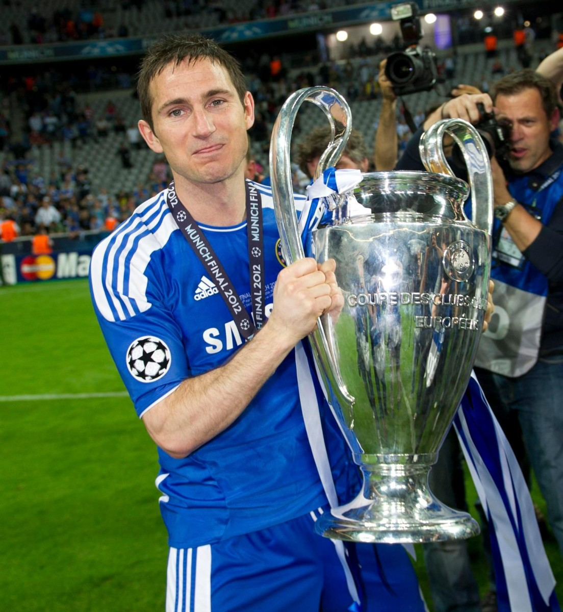 Chelsea icon Frank Lampard even got his hands on the Champions League