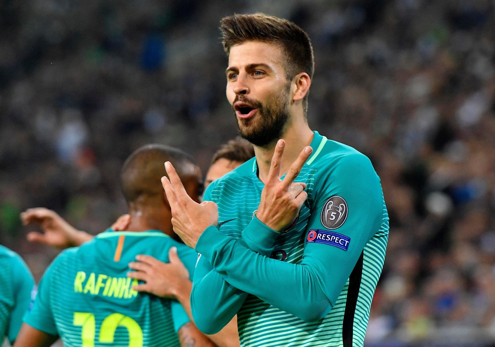 Barcelona ace Gerard Pique is one of three centre-backs