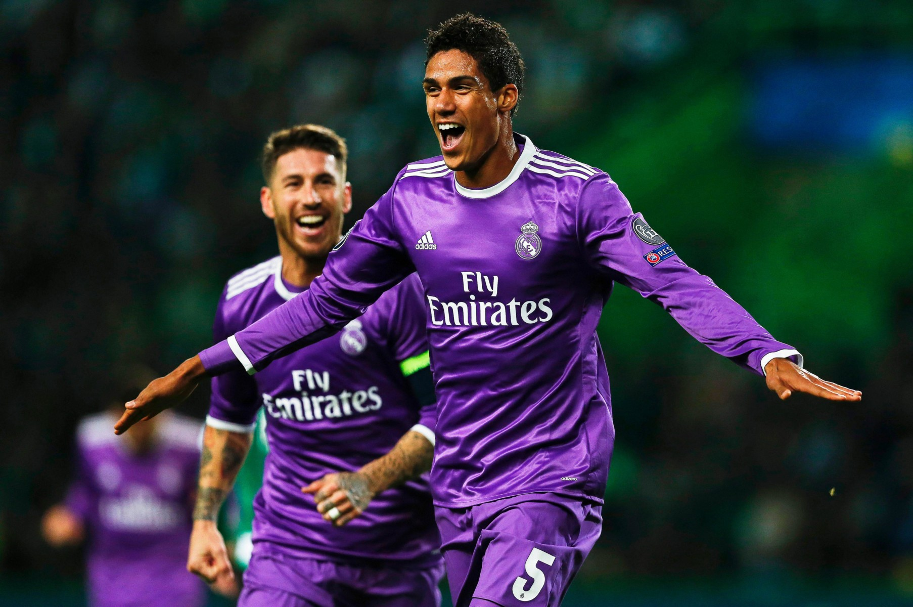 Real Madrid ace Raphael Varane is the third centre-back