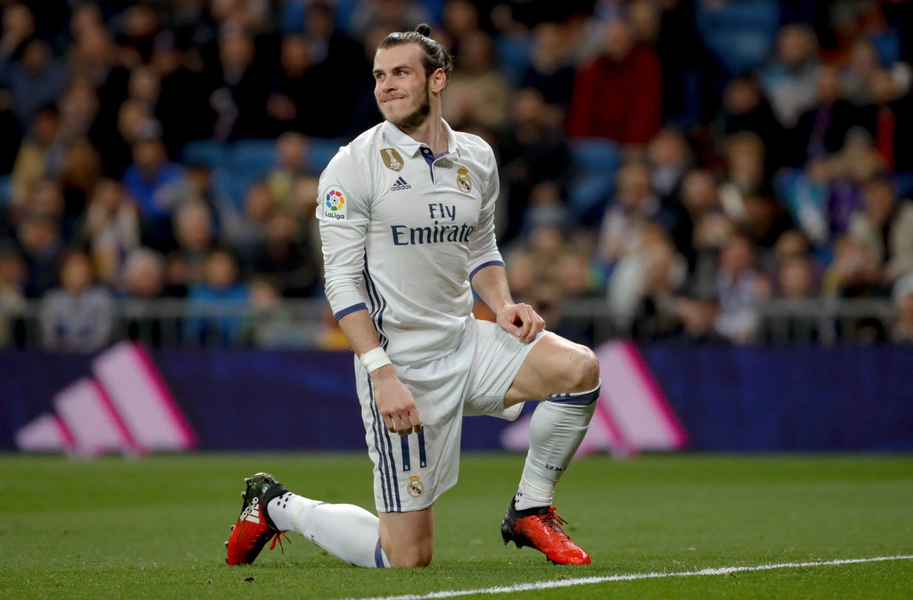 Real Madrid star Gareth Bale is on the left wing
