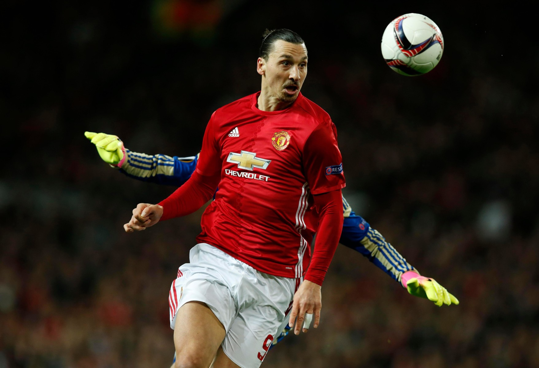 Manchester United ace Zlatan Ibrahimovic is also up front