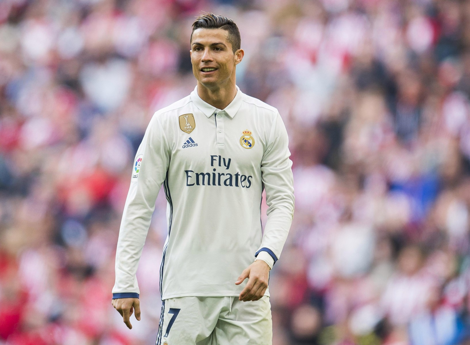 Real Madrid ace Cristiano Ronaldo is on the right wing