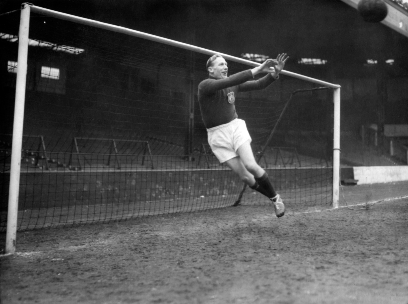 Bert Trautmann was in goal for Manchester City as he conceded eight to the Foxes at Filbert Street
