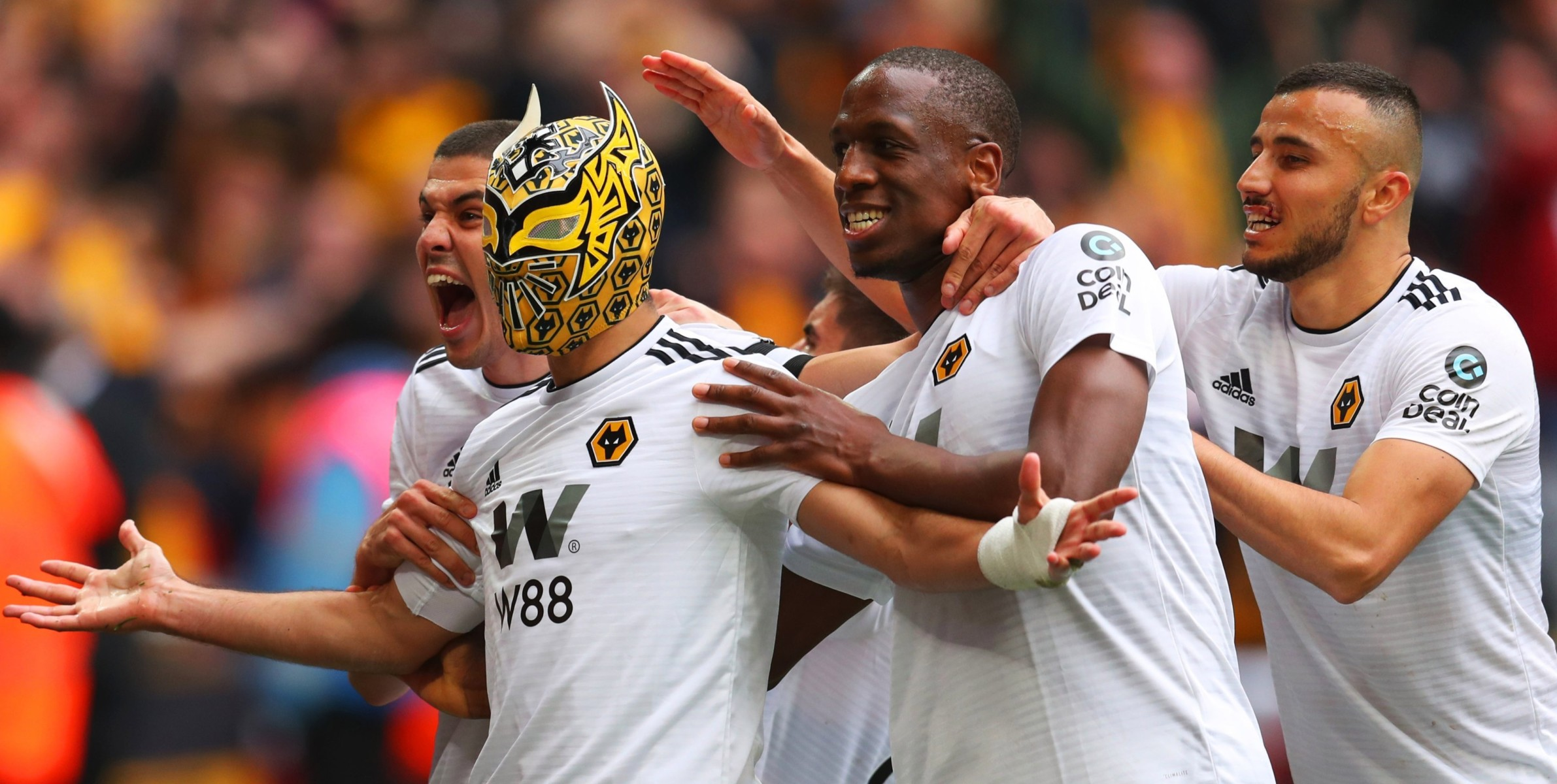 Wolves striker Raul Jimenez has famously used masks to salute some of his goals