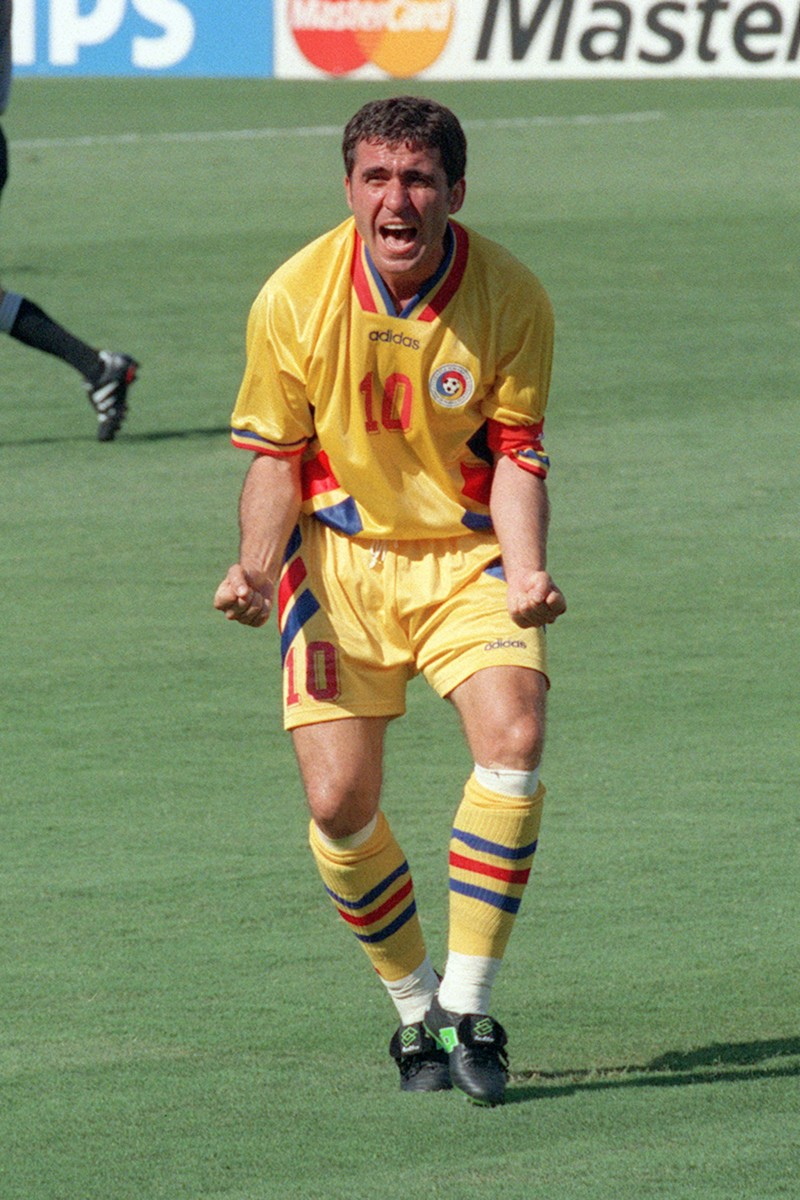 Hagi's dad Gheorghe played for both Real Madrid and Barcelona in the 1990s and scored 35 goals in 124 international caps