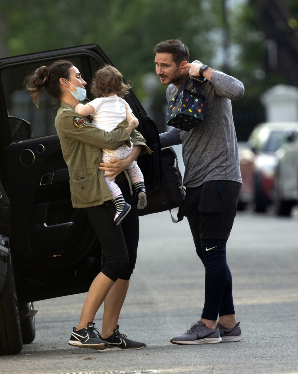 Chelsea Boss Frank Lampard And Masked Wife Christine Pop Out With Baby As Blues Manager Counts Down To Prem Return Sporting Excitement