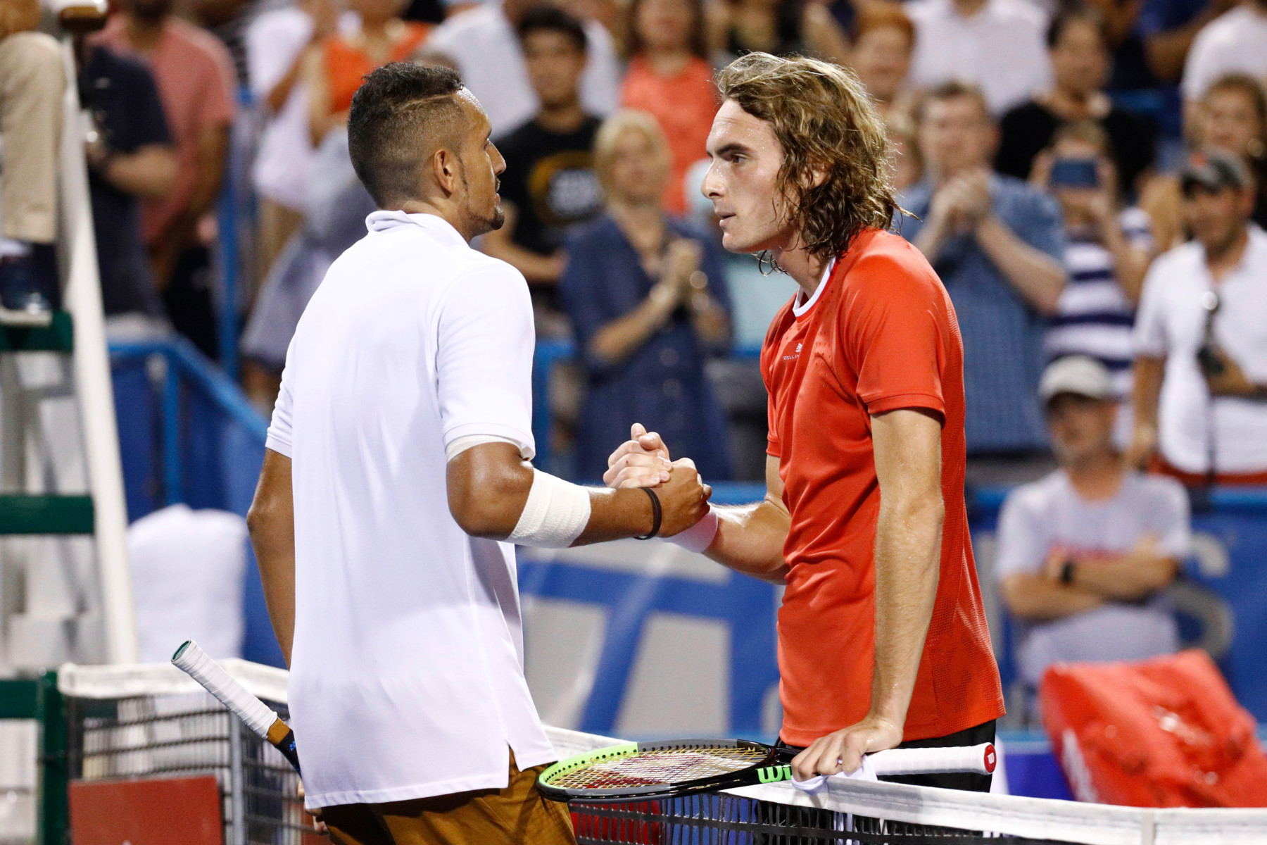 Kyrgios, whose dad is Greek, has a 2-0 pro record against the 21-year-old but took a big defeat on Monday