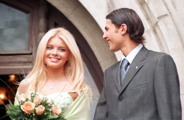 Mutu and his first wife Alexandra