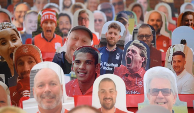 Brave Fan Pays For Cardboard Cut Out Of Roy Keane Holding A Mr Whippy In Nottingham Forest Stands Vs Huddersfield Sporting Excitement That peter crouch podcast followed. mr whippy in nottingham forest stands