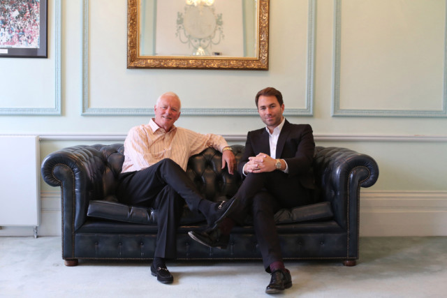 Eddie Hearn is effectively in charge of the business these days