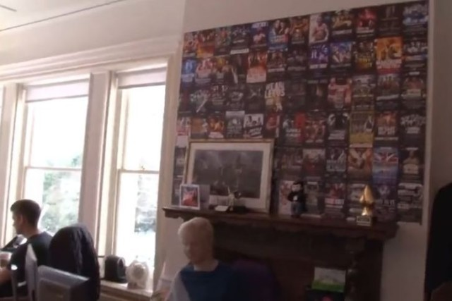 Fight posters dominate Matchroom HQs office