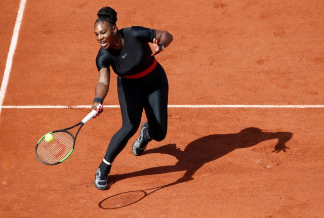 Three-time French Open champ Serena Williams picked up where she left off - eight months after having her first baby