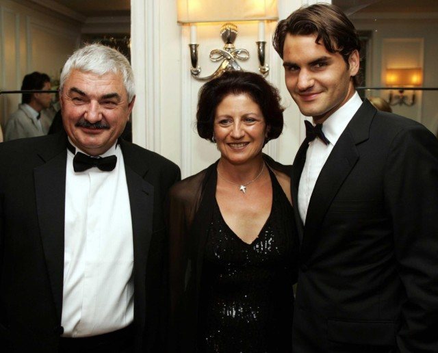 Federer moved his parents Robert and Lynette into one of the apartments of the pad