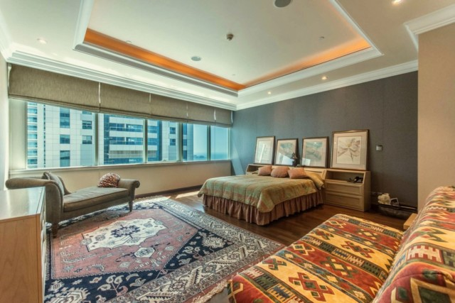 The presidential suite boasts five bedrooms