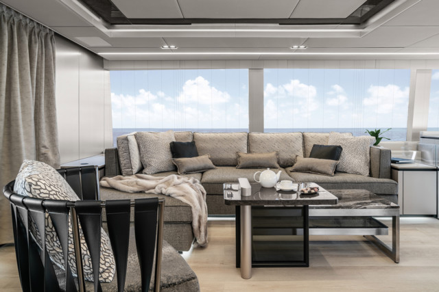 There's plenty of space to lounge on Nadal's stunning yacht