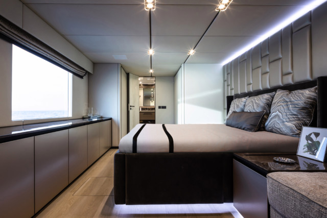 The master cabin features its own en-suite