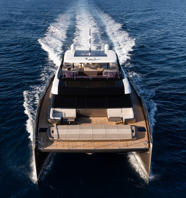 The yacht is powered by two engines