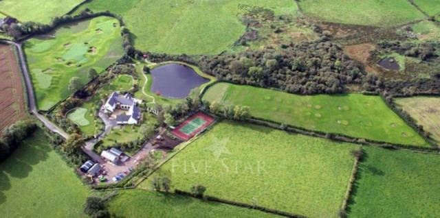 Robinhall House in Moneyreagh came with a tennis court, giant golf practice area and putting green