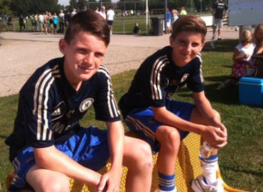 Mount became best mates with West Ham's Declan Rice, left, in Chelsea's academy
