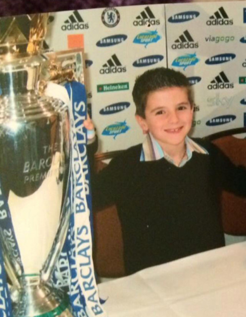 An eight-year-old Mount joins Chelsea at the age of eight
