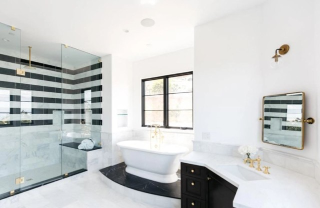 Six and a half bathrooms can be found in the £5.1m property too