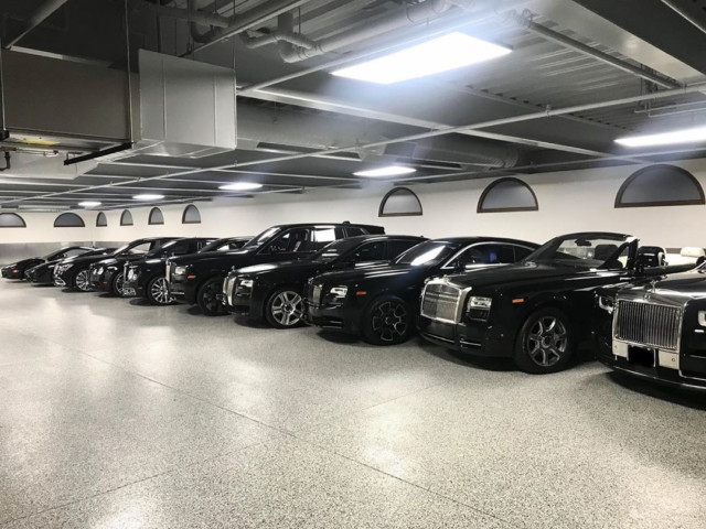 But the motors in Mayweather's LA garage are black
