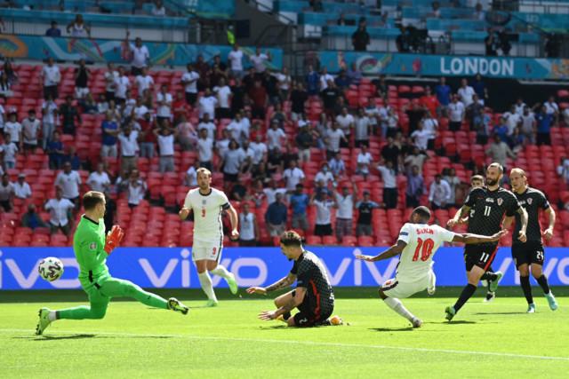 Raheem Sterling scores against Croatia