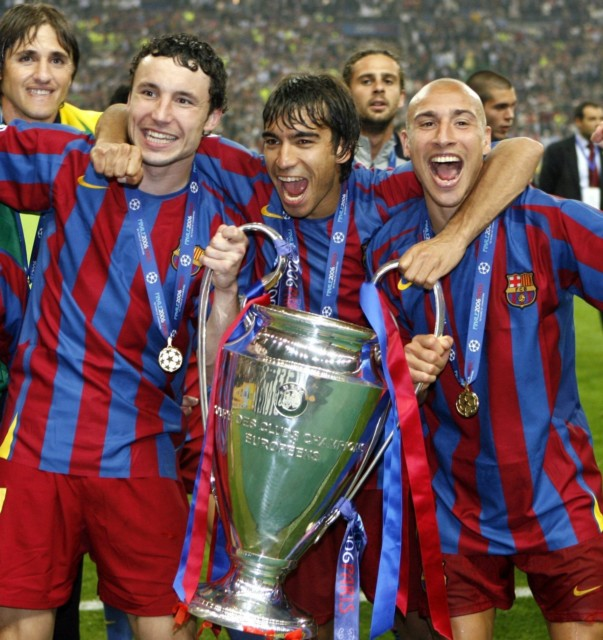 Van Bronckhorst left Arsenal for Barcelona and won the Champions League against his old club