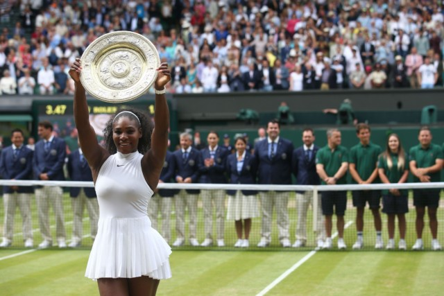 The dish has been presented to the womens' singles champion since 1886