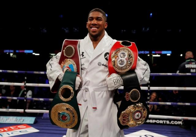 Undefeated Anthony Joshua is the currentIBF, WBA 'Super' and WBO world champion