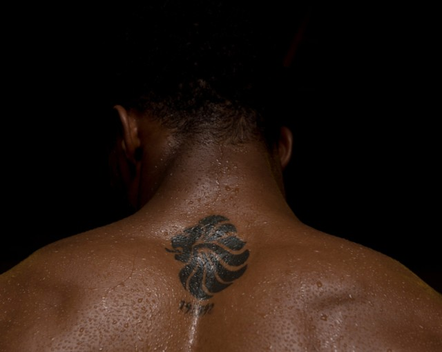 To commemorate winning gold at London 2012 Joshua has the Team GB lion inked between his shoulder blades